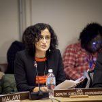 Rosemary Kalapurakal, UNV Deputy Executive Coordinator, chaired the event. (UNV/Joel Sheakoski, 2014)